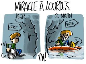 Nactualités : miracle à Lourdes