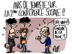 Nactualités : avis de tempête sur la deuxième conférence sociale !