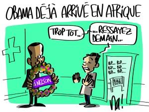 Nactualités : Obama déjà arrivé en Afrique