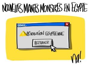 Nactualités : nouvelles manifestations monstres en Egypte