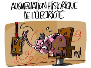 Nactualités : augmentation historique de l'électricité
