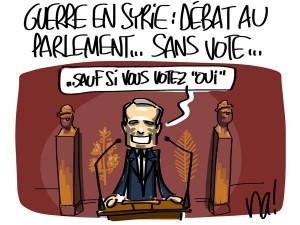 Nactualités : guerre en Syrie, débat au parlement… sans vote…