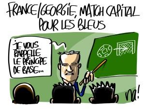 Nactualités : France/Géorgie match capital pour les bleus