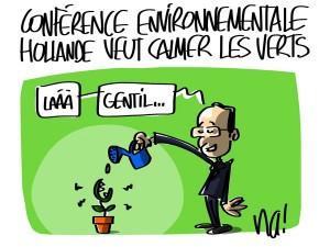 Nactualités : conférence environnementale, Hollande veut calmer les Verts