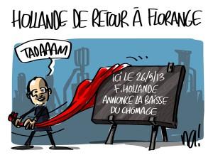Nactualités : François Hollande de retour à Florange