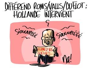 Nactualités : différend roms/Valls/Duflot, Hollande intervient