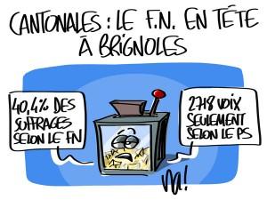 Nactualités : cantonales, le FN en tête à Brignoles