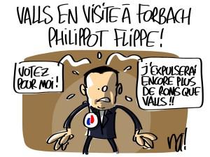 Nactualités : Manuel Valls en visite à Forbach, Florian Philippot flippe !