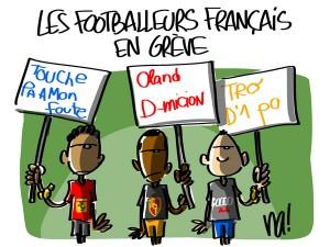 Nactualités : les footballeurs français en grève