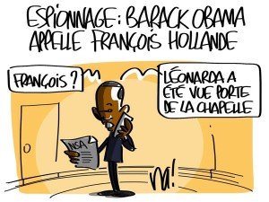 Nactualités : espionnage, Barack Obama appelle François Hollande