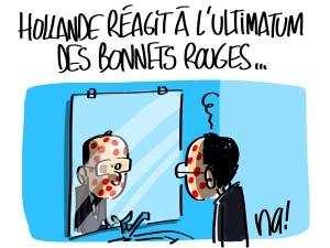Nactualités : François Hollande réagit à l'ultimatum des bonnets rouges