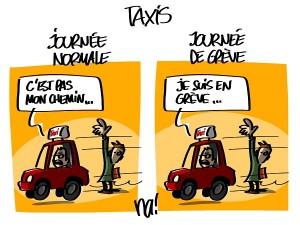 grève des taxis : le jeu des 1 erreur