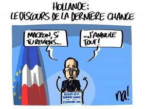 Hollande désespéré ?