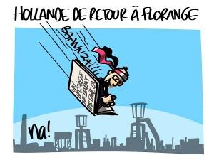Hollande de retour à Florange