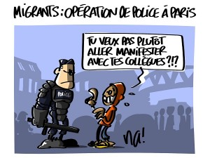 Migrants : opération de police à Paris