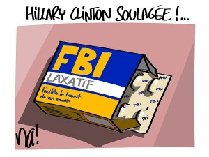 Hillary Clinton soulagée !