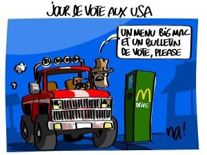 Jour de vote aux USA