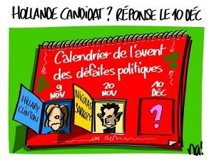 Hollande annoncera sa candidature (ou pas) le 10 décembre