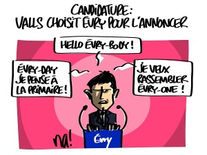 Valls annonce sa candidature à Evry