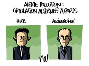alerte pollution : circulation alternée à Paris