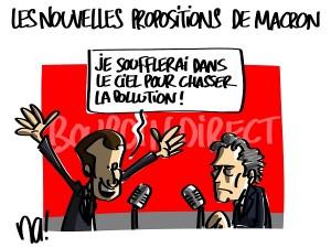 Les nouvelles propositions de Macron