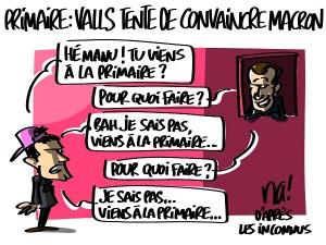 Primaire à gauche : Valls tente de convaincre Macron