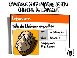 Marine Le Pen cherche de l'argent