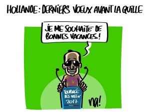 Hollande : dernière tournée des voeux avant la quille