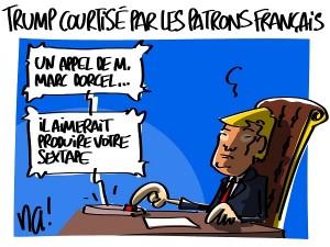 Trump courtisé par les patrons français malgré sa sextape ?