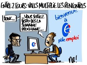 entre deux tours, Valls multiplie les rencontres