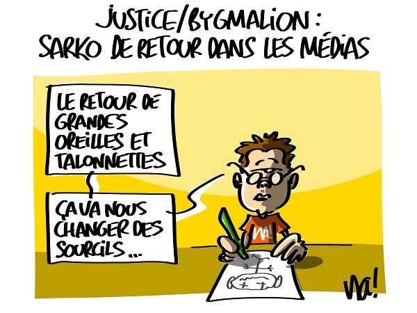 justice, bygmalion : Sarko de retour dans les médias