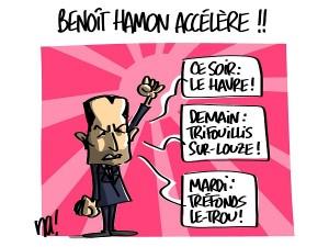Benoit Hamon accélère sa campagne