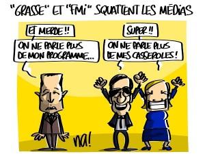 «le tireur de Grasse» et «la lettre piégée au FMI» squattent les médias