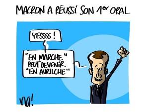 Macron a réussi son premier oral