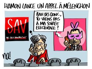 Hamon lance un appel à Mélenchon