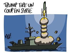Trump tire un coup en Syrie