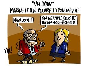 «vel'd'hiv» Marine Le Pen rouvre la polémique