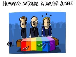 Hommage national à Xavier Jugelé
