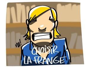 Marine Le Pen, nouvelle affiche et nouveau slogan