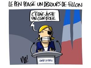 Le Pen plagie un discours de Fillon