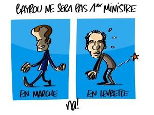 Bayrou ne sera pas premier ministre