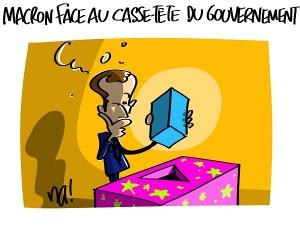 Macron face au casse-tête du gouvernement