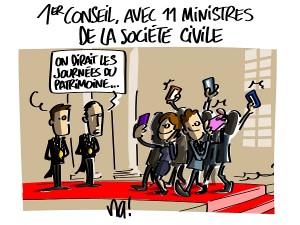Premier conseil des ministres du gouvernement Macron