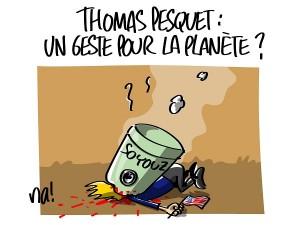 Thomas Pesquet : un geste pour la planète ?