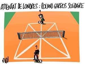Attentat de Londres, Roland Garros solidaire