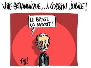 Vote britannique, Jeremy Corbyn jubile