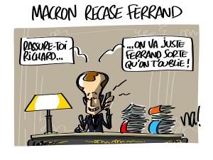 Macron recase Ferrand
