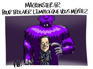 L'emploi vu par Macron