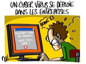 Un cyber virus se déploie dans les entreprises