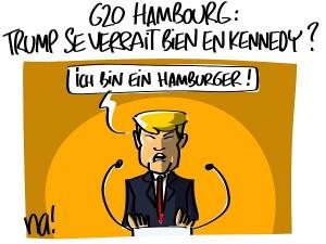 Trump au G20 à Hambourg